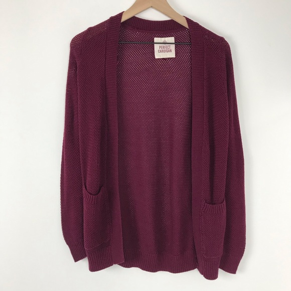 pilota Meridionale Là  SO Sweaters | Burgundy Cardigan Womens Xs By | Poshmark